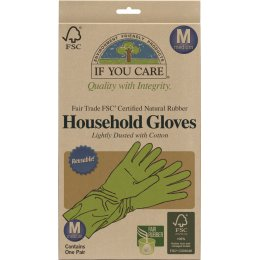 If You Care Fair Rubber Latex Household Gloves - Medium