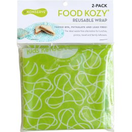 U-Konserve Reusable Medium Food Kozy Wrap - 2 Pack - Green