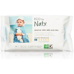 Eco by Naty Aloe Vera Sensitive Wipes - Pack of 56