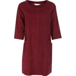 Nomads Needlecord Tunic Dress - Cranberry
