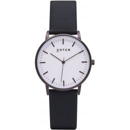 Votch New Collection Vegan Leather Watch - Black