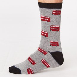 Thought Mens London Bamboo Socks - London Bus