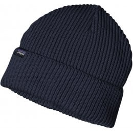 Patagonia Fishermans Rolled Back Beanie Hat - Navy Blue