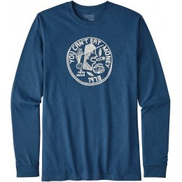 Patagonia Cant Eat Money Responsibili-Tee - Glass Blue