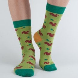 Doris & Dude Womens Squirrel Bamboo Socks