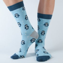 Doris & Dude Womens Penguin Bamboo Socks