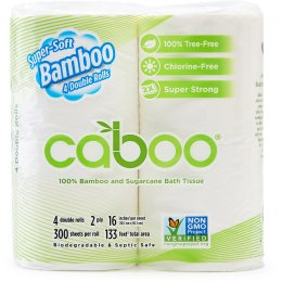 Caboo Bamboo & Sugarcane 2ply Toilet Roll - Pack of 4