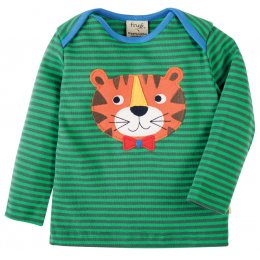 Frugi Bobby Tiger Applique Top
