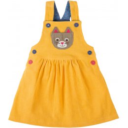 Frugi Doris Cat Dungaree Dress