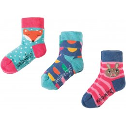 Frugi Little Bunny Socks - Pack of 3