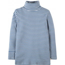 Frugi Ava Stripe Roll Neck Top