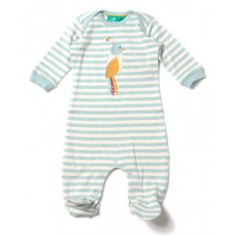 Paradise Bird Applique Babygrow
