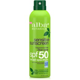 Alba Botanica Fragrance Free Clear Sunscreen Spray SPF50 - 177ml