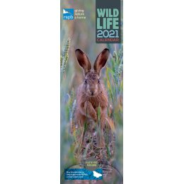 RSPB British Wildlife 2021 Slim Wall Calendar