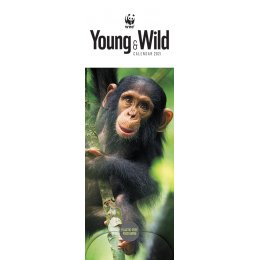 WWF Young & Wild 2021 Slim Wall Calendar