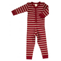 Pigeon Organics Red Striped Onesie
