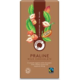 Traidcraft Fairtrade Organic Milk Chocolate with Praline - 100g