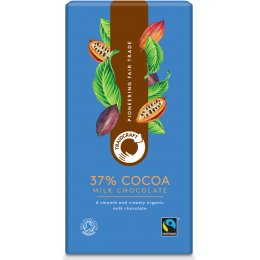 Traidcraft Fairtrade Organic Milk Chocolate 37 percent  Cocoa - 100g