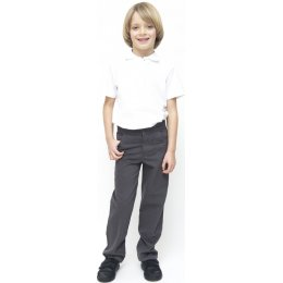 Boys Slim Fit Trousers - Grey - 3yrs