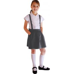 Grey Skirt with Braces - 6yrs