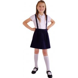 Navy Skirt with Braces - 3yrs