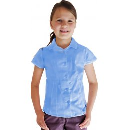 Blue Short Sleeve Blouse - 4yrs