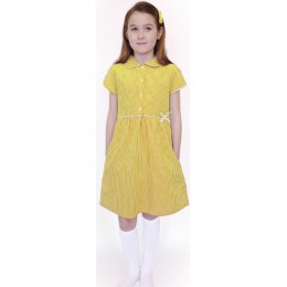 Organic Cotton Yellow Gingham Dress - 9yrs