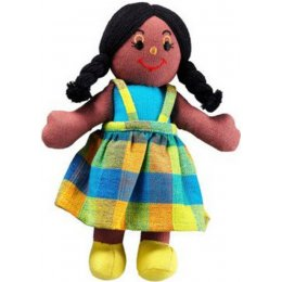 Lanka Kade Girl Doll - Black Skin & Black Hair