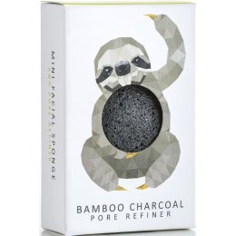 Rainforest Sloth Natural Konjac Mini Face Puff - Bamboo Charcoal