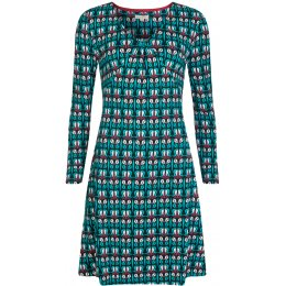 Mudd & Water All I Ever Needed Dress - Indigo Winter Bloom