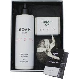 The Soap Co Geranium & Rhubarb Gift Set Trio