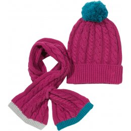 Kite Hat & Scarf Set - Berry