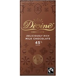Divine High Cocoa Milk Chocolate 45 percent
