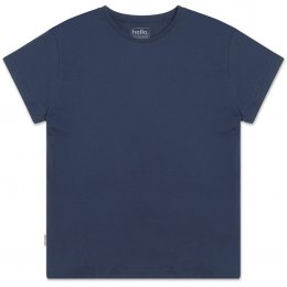 Womens Boxy Plain T-Shirt - Navy