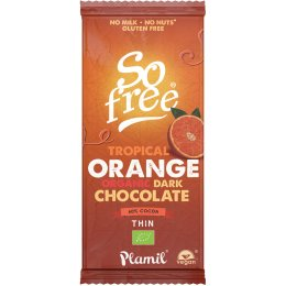 Plamil So Free Orange Chocolate Bar - 80g