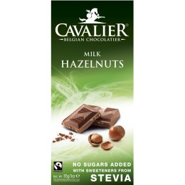 Cavalier Belgian Milk Chocolate with Hazelnuts 85g