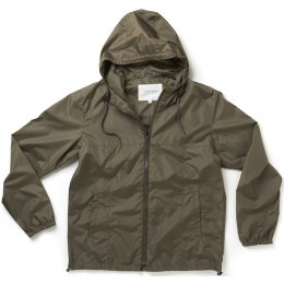 Thought Mens Recycled Jamie Rain Jacket - Khaki