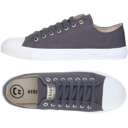 Ethletic Fairtrade Trainers - Pewter Grey & White