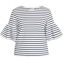 People Tree Navy Stripe Trisha Top