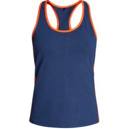 People Tree Yoga Vest - Navy & Orange