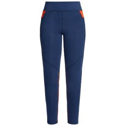 People Tree Yoga Leggings - Navy & Orange