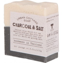 Handmade Exfoliating Cake Soap 250g - Charcoal & Salt
