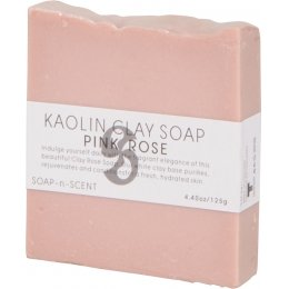Kaolin Clay Soap 125g - Pink Rose