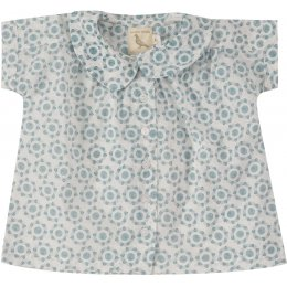 Pigeon Organics Blue Flowers Blouse