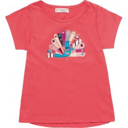 Sense Organics Mahima Peacock Applique T-Shirt