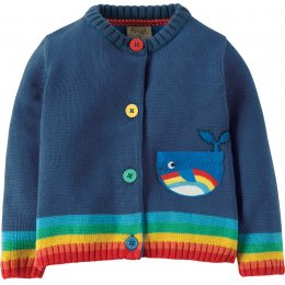 Frugi Little Happy Day Whale Cardigan