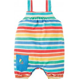 Frugi Beau Beach Rainbow Stripe Dungaree