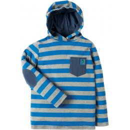 Frugi Campfire Blue Stripe  Hooded Top