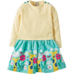 Frugi Roundabout In The Clouds Twirly Dress