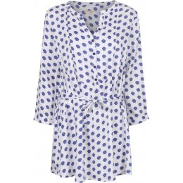 Mudd & Water Day Break Tunic - White Shell Print